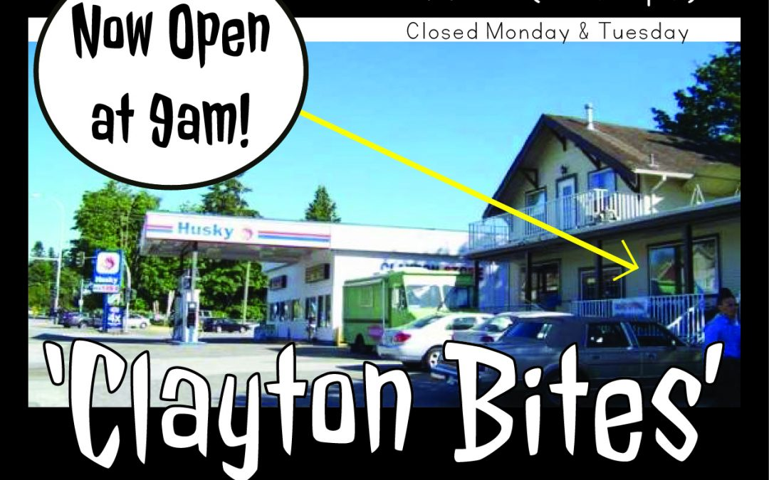 Clayton Bites has NEW SPRING HOURS