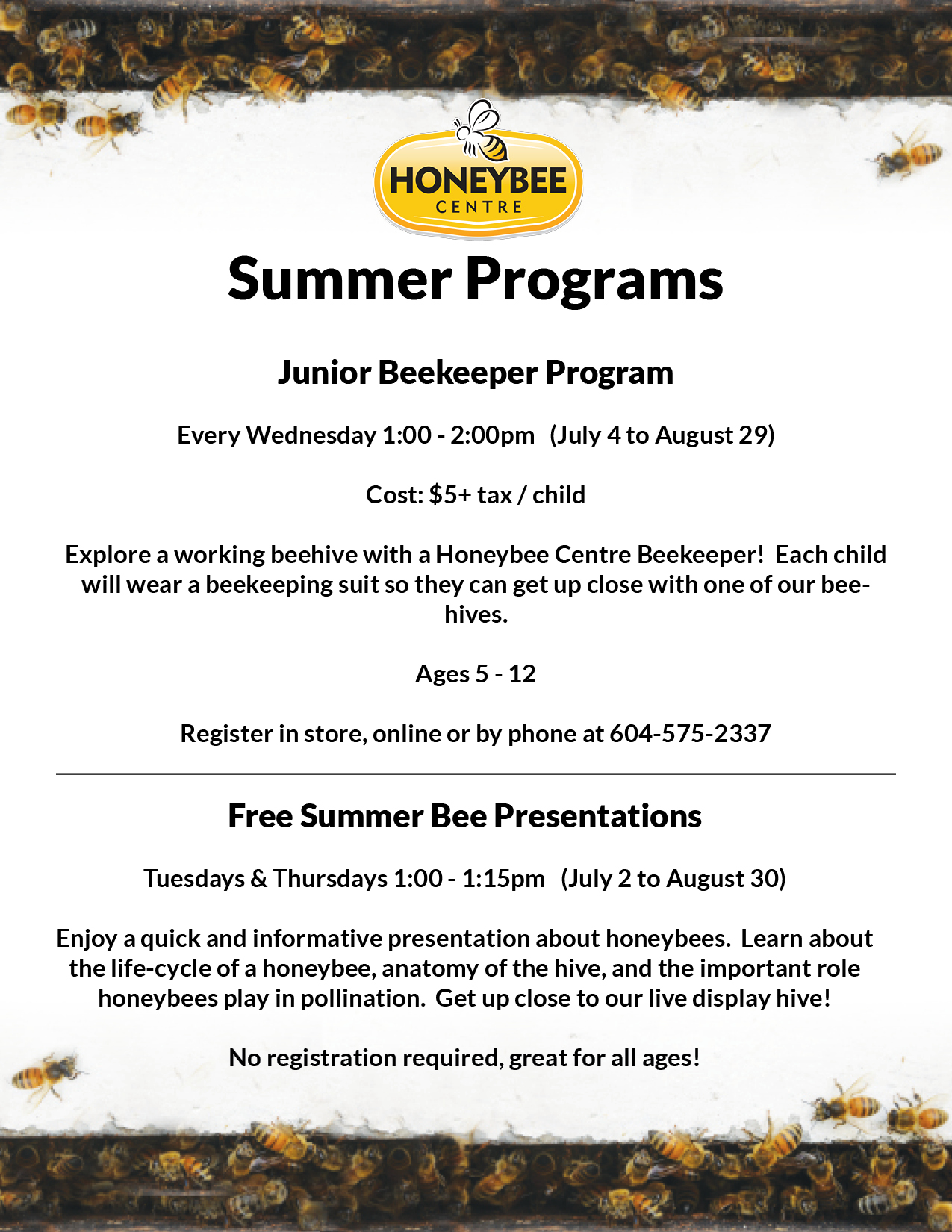 Summer Camps At Honeybee Centre Ishop Cloverdale