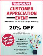Customer Appreciation Day June 3